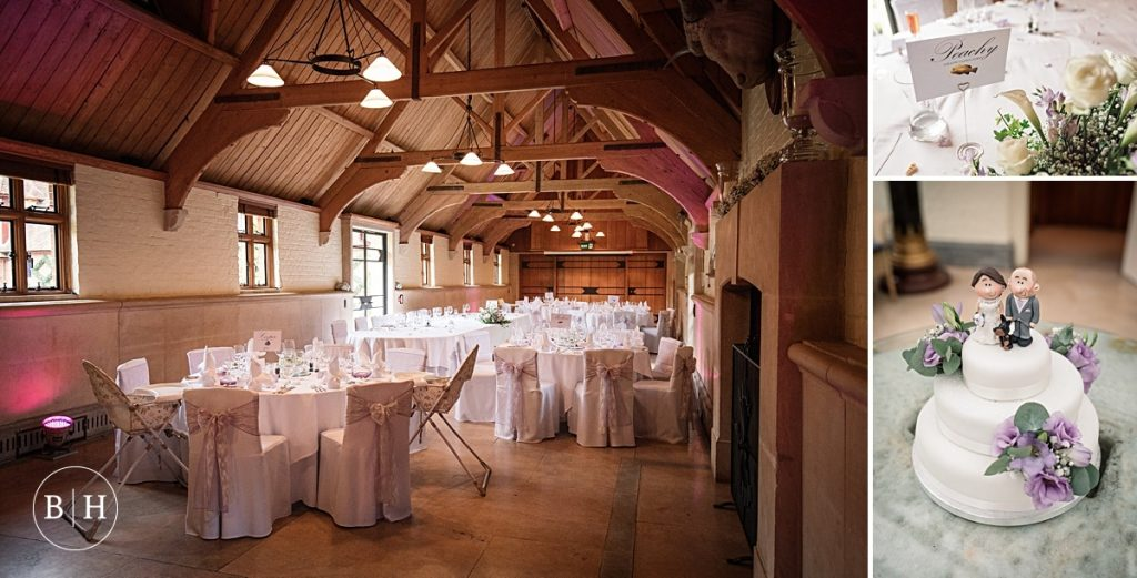 Wedding Reception set up at Waddesdon Dairy in Buckinghamshire. Taken by Becky Harley Photography