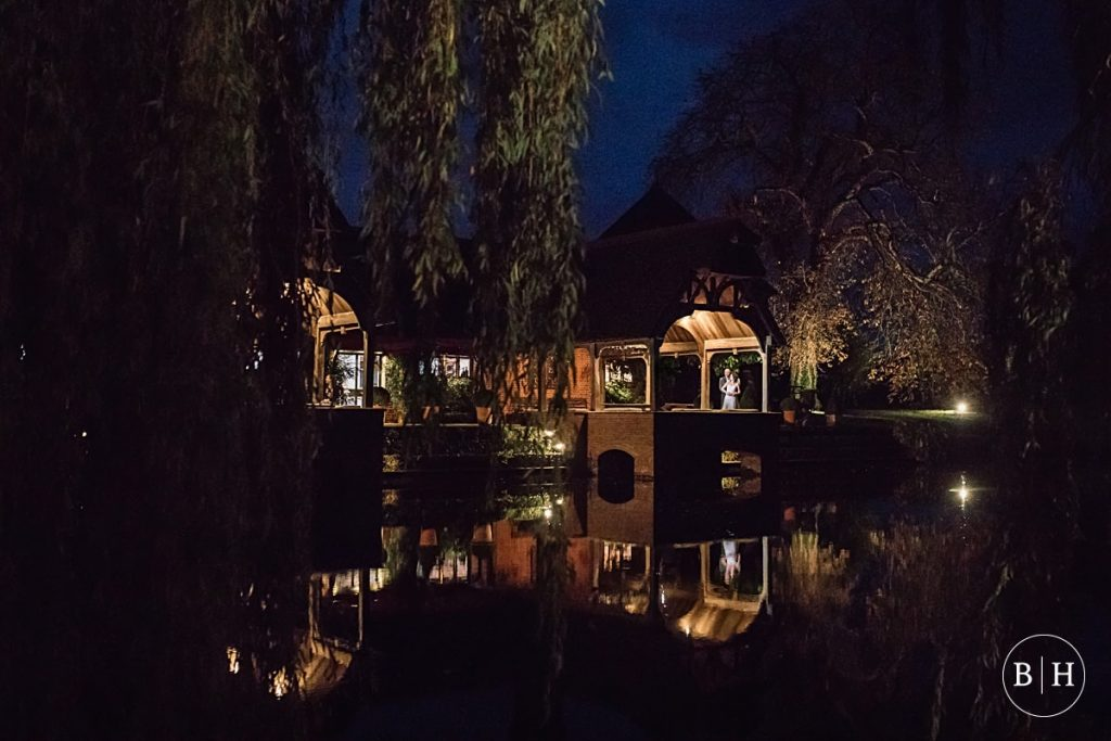 Evening shot of Waddesdon Dairy across the lake. Taken by Becky Harley Photography
