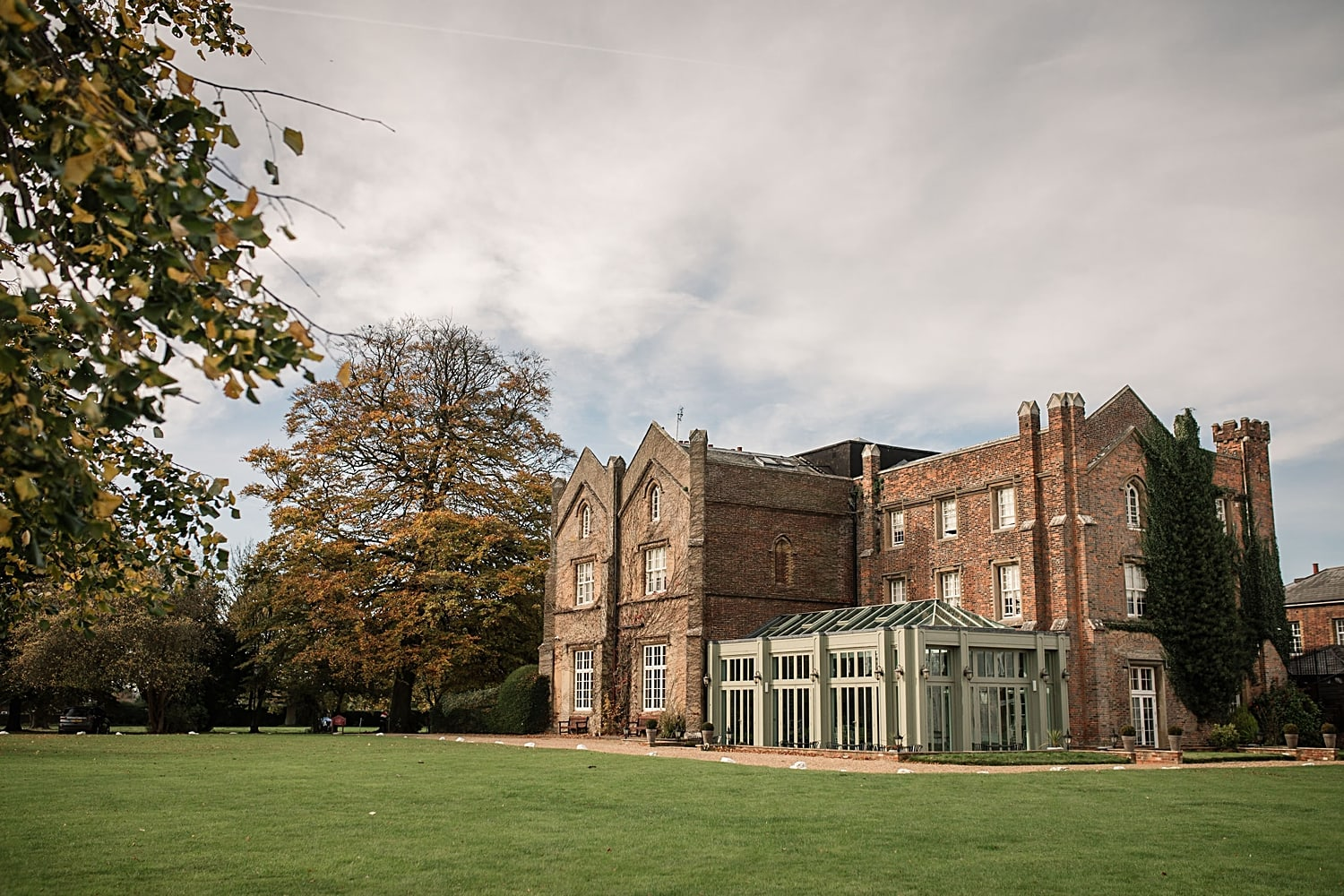 Top Ten Hertfordshire Wedding Venues Offley Place exterior taken by Becky Harley Photography