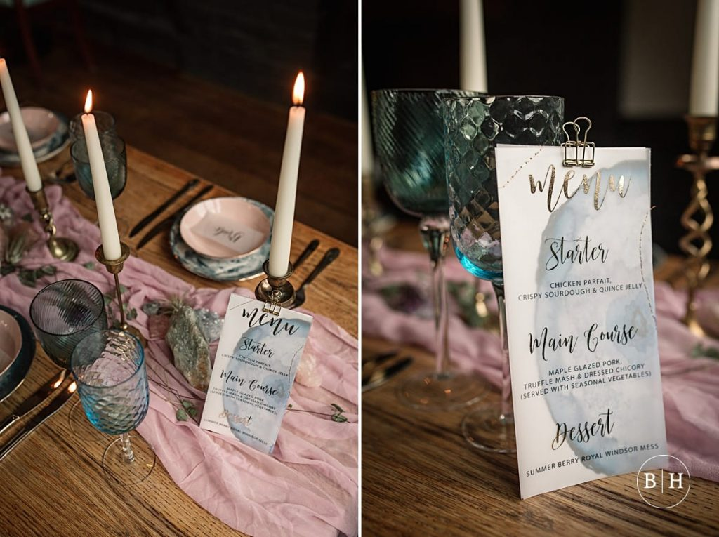 Boho luxe wedding styling taken by Becky Harley Photography
