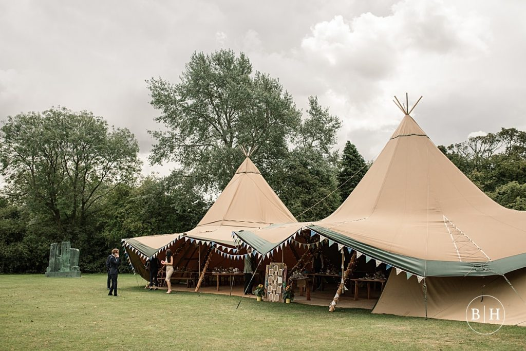 Tipi set up at the Henry Moore Foundation taken by Becky Harley Photography