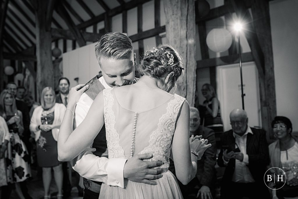 Bride and groom's first dance at the Henry Moore foundation taken by Becky Harley Photography