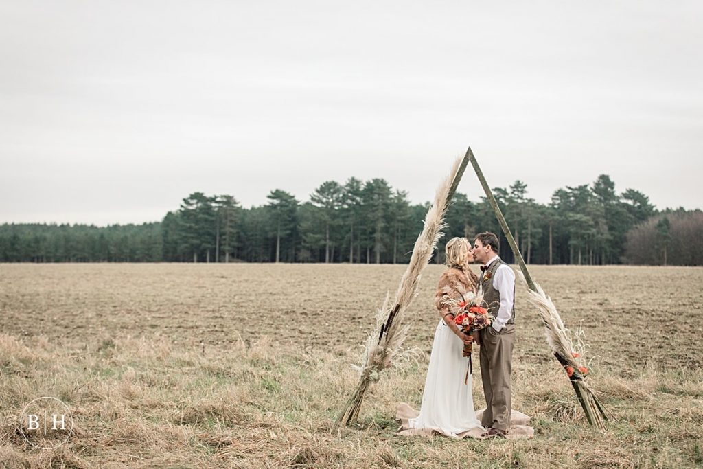 Tribal Wedding bride and groom taken by Becky Harley Photography