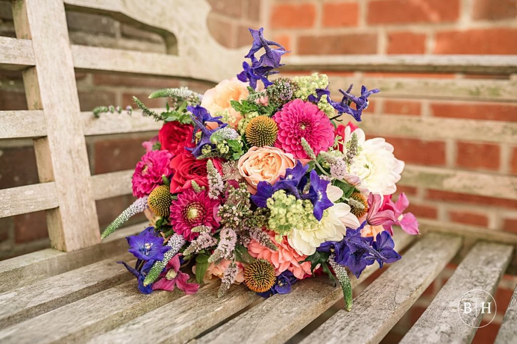 Colourful wedding bouquet. How to book your wedding florist