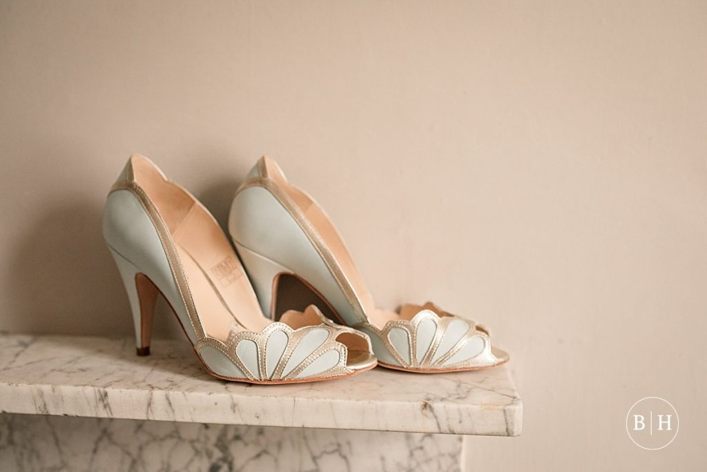 Rachel Simpson shoes at Bodleian Library Wedding taken by Becky Harley Photography