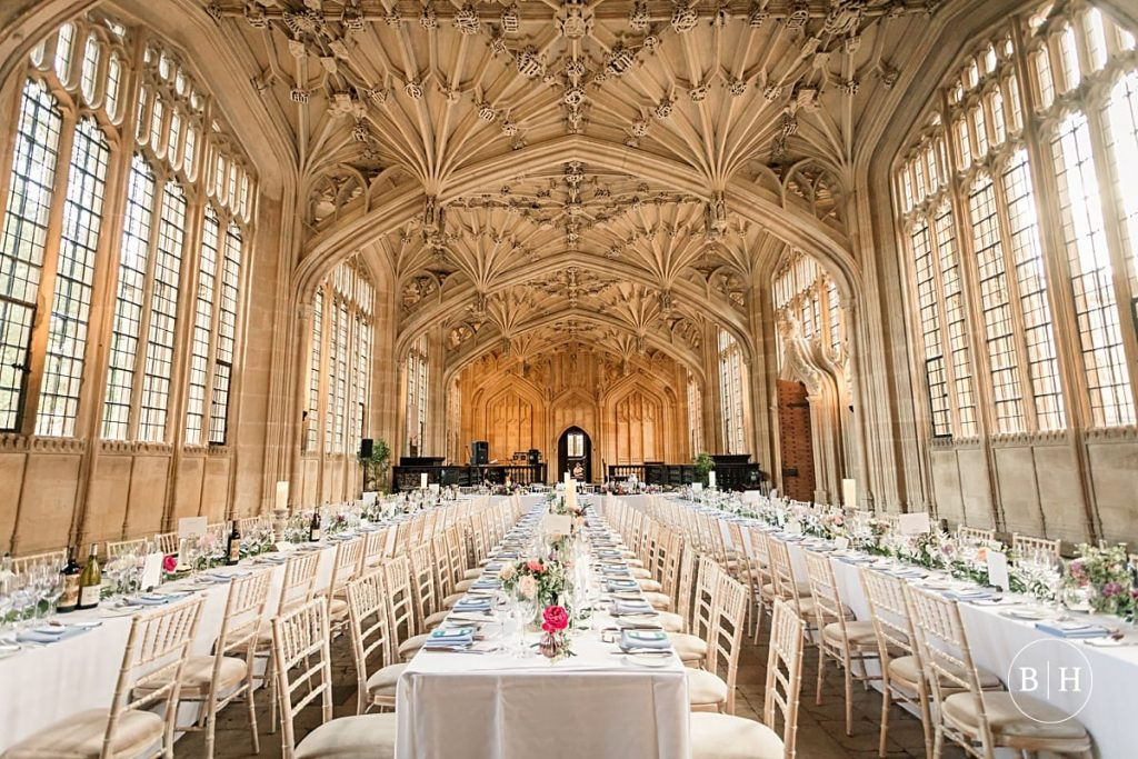 Wedding Reception in Divinity Schools at Bodleian Library Wedding taken by Becky Harley Photography