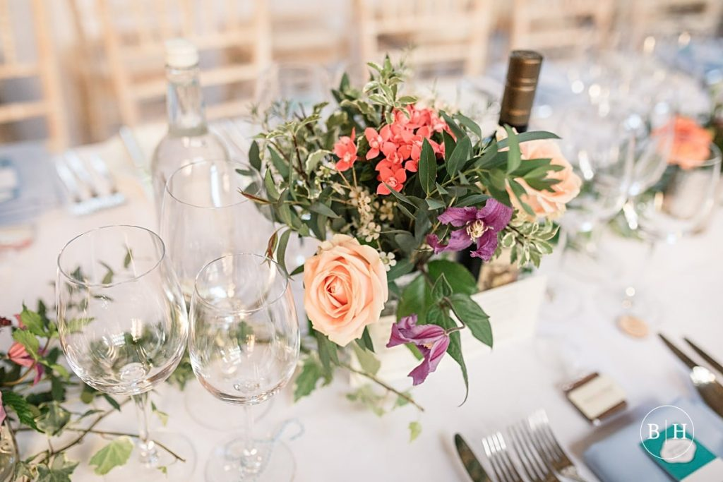 Wedding table decorations at Bodleian Library Wedding taken by Becky Harley Photography