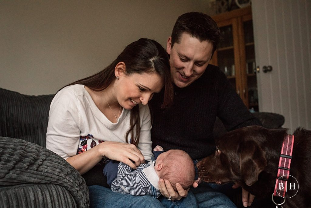 Mum, dad and baby taken by Becky Harley Photography