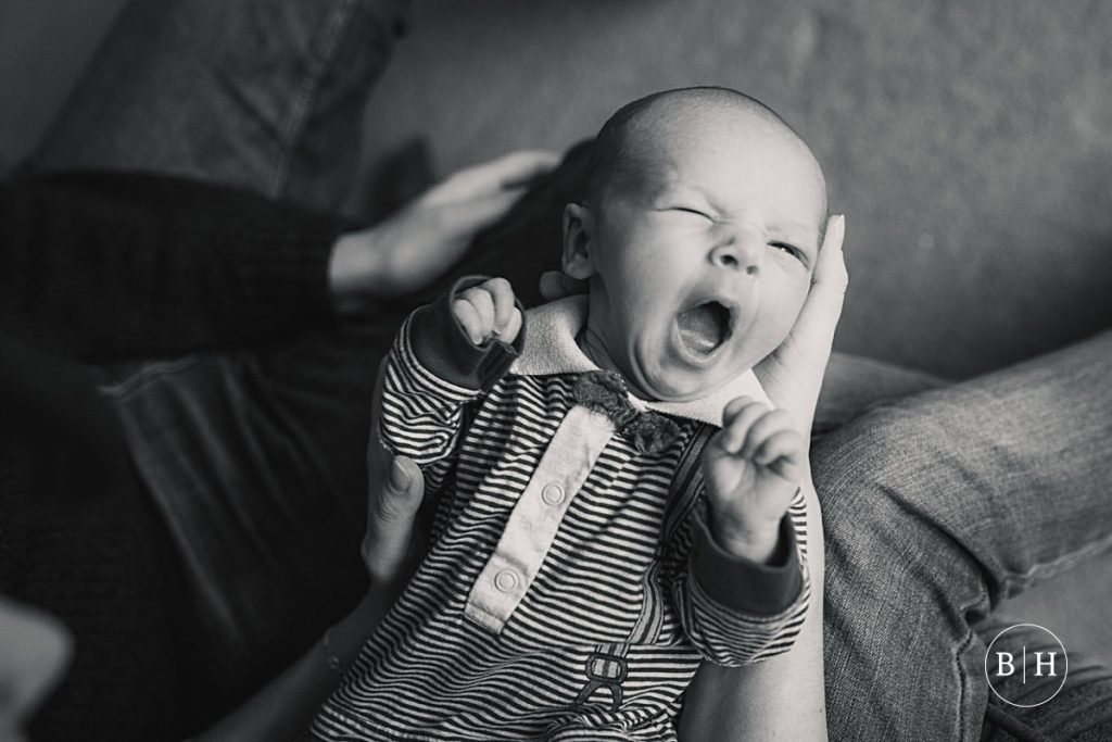 Baby yawning taken by Becky Harley Photography