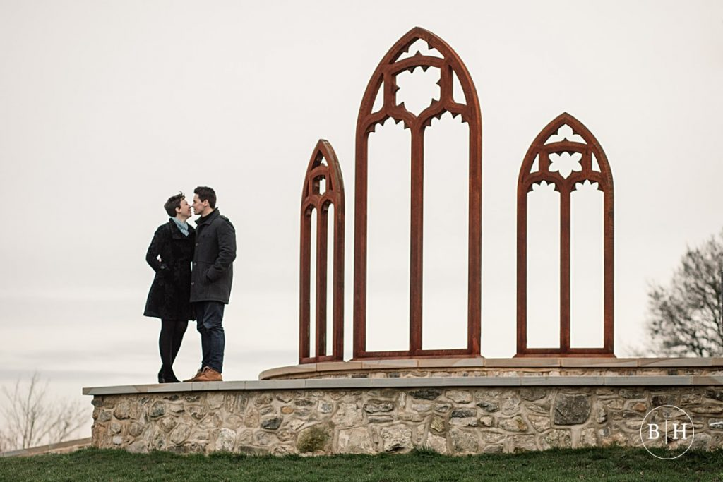 Engaged couple at Lesnes Abbey in London taken by Becky Harley Photography