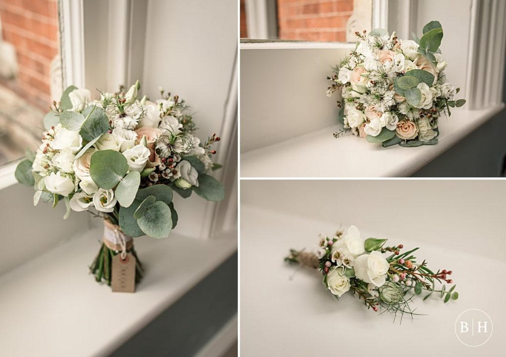 Wedding flowers at Pendrell Hall taken by Becky Harley Photography