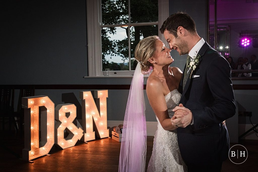 Bride and Groom's First dance at Pendrell Hall taken by Becky Harley Photography