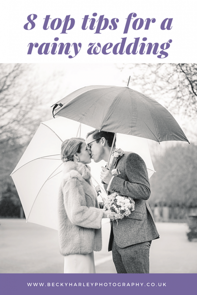 Top tips for a rainy wedding day