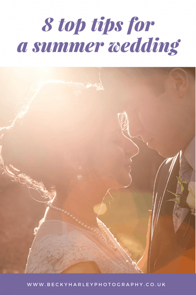 summer wedding advice by Becky Harley photography