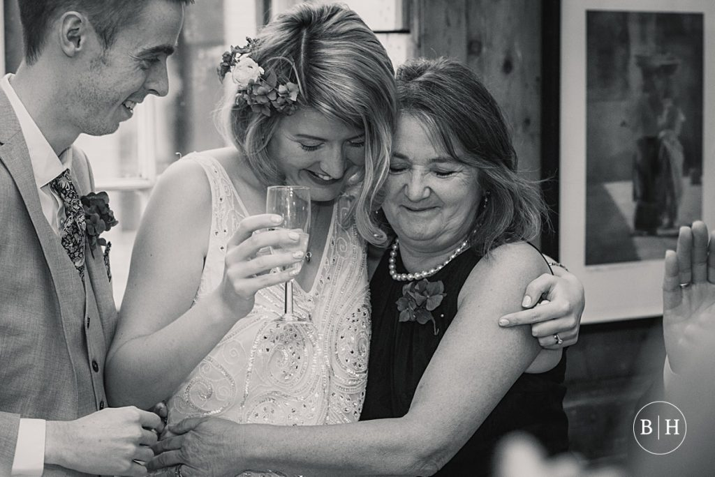 bride and her mum at Soho union club wedding taken by Becky Harley Photography