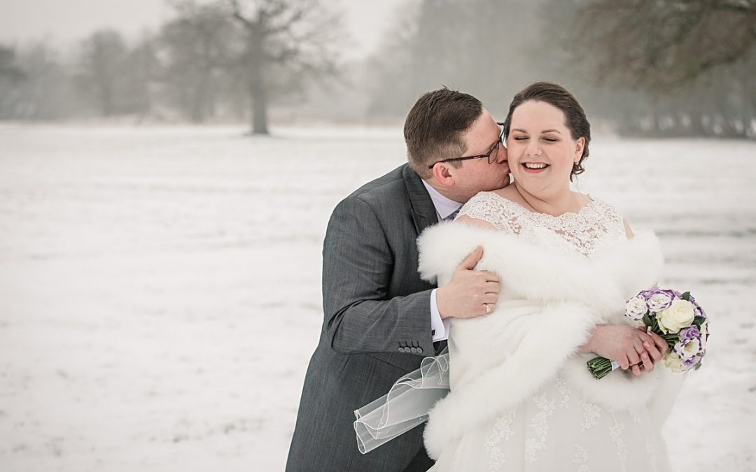 Snowy Offley Place Wedding in Hertfordshire – Mel & Rob
