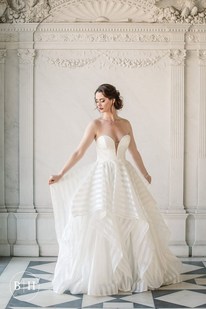 San Patrick Altafulla dress from Burr Bridal, taken by Becky Harley Photography