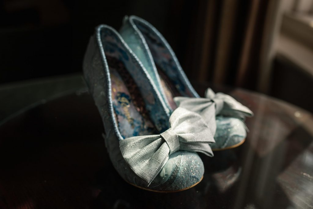 Irregular Choice Shoes at Brook Farm Cuffley Wedding taken by Becky Harley Photography
