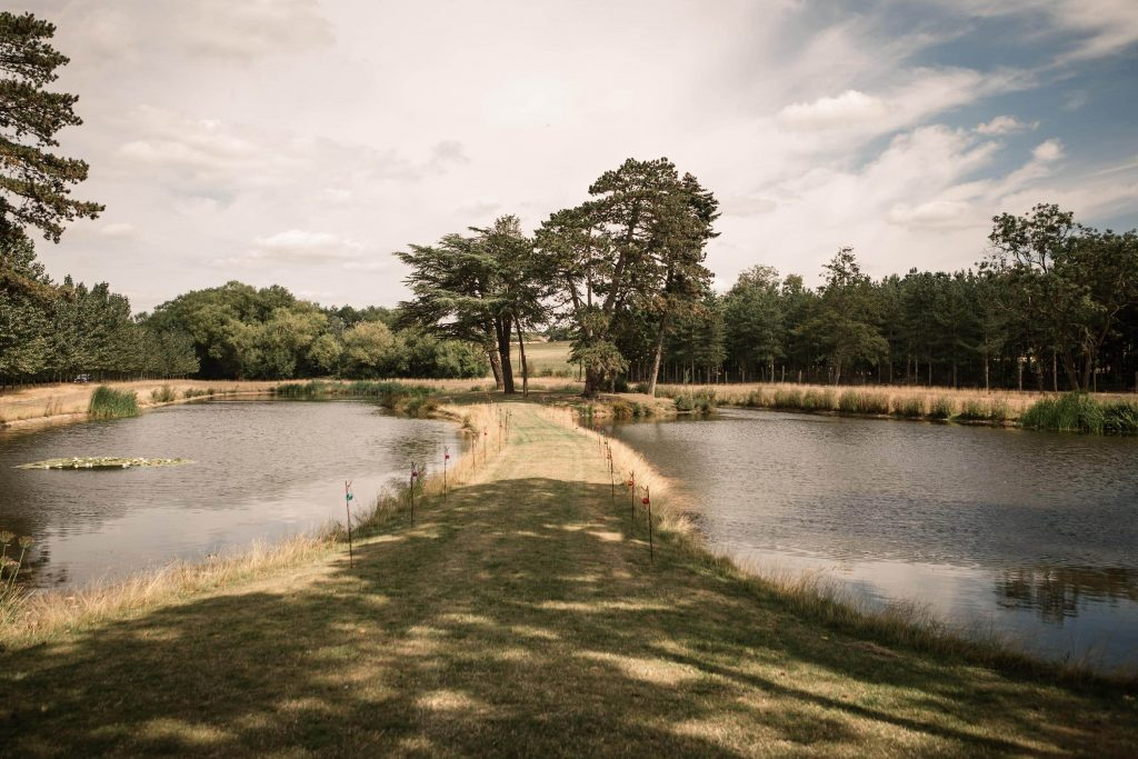 The lake at Brook Farm Cuffley Wedding taken by Becky Harley Photography