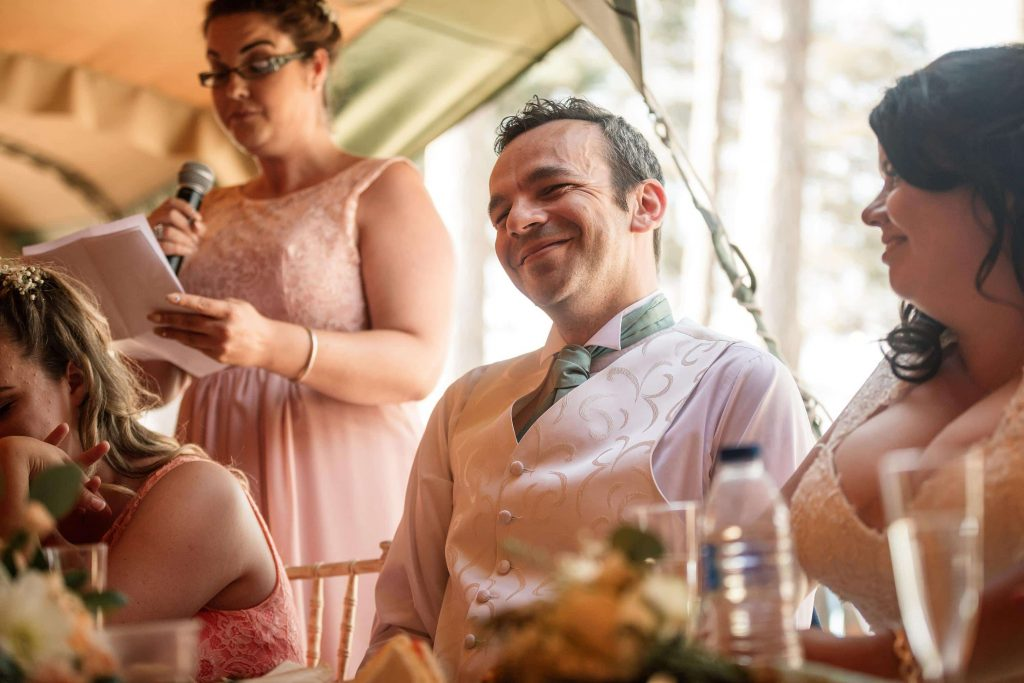 Groom at Brook Farm Cuffley Wedding taken by Becky Harley Photography