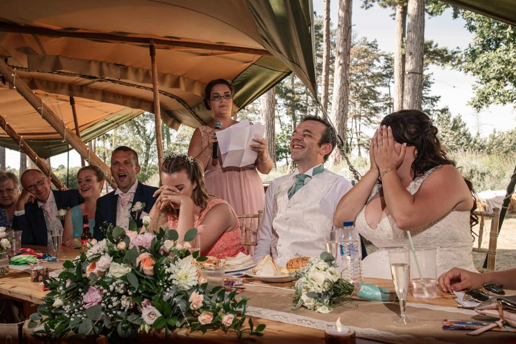 wedding speeches at Brook Farm Cuffley Wedding taken by Becky Harley Photography