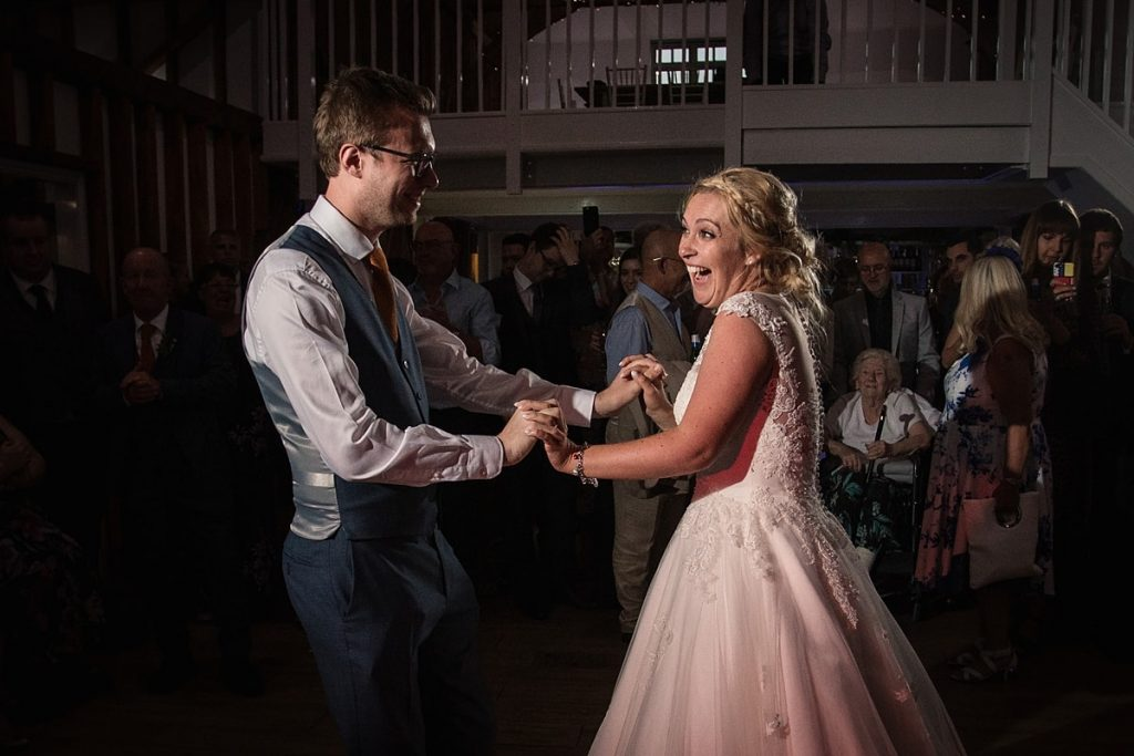 Bride and groom at summer Milling Barn wedding, taken by Becky Harley Photography