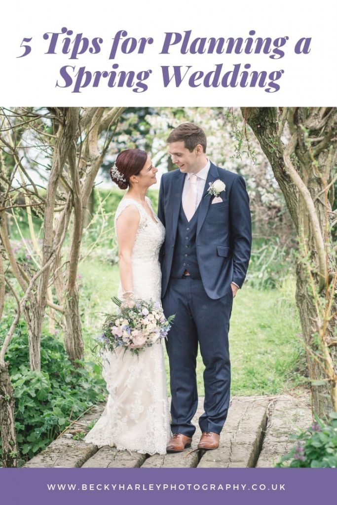 Spring wedding advice - image by Becky Harley Photography
