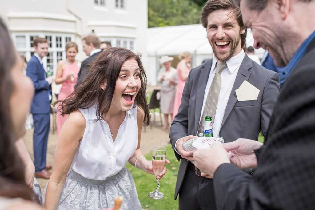 wedding guest reaction to magician