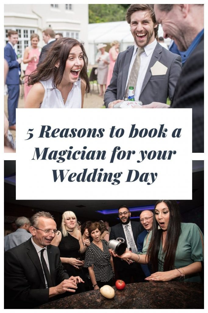 Booking a wedding magician