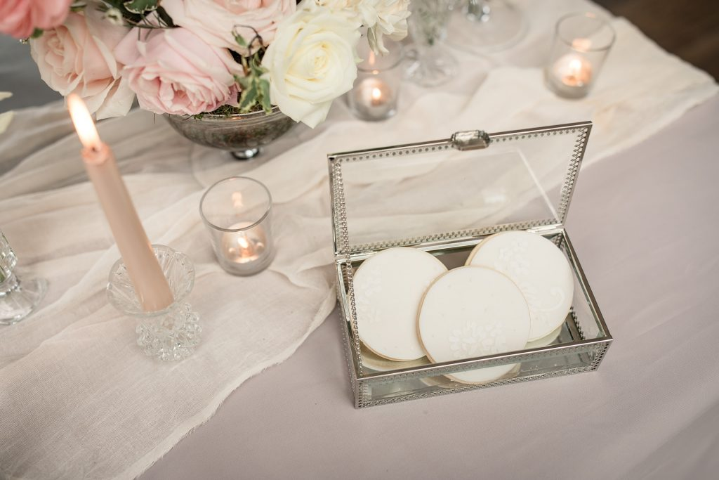 Wedding favour cookies by Meadowsweet Cakes, taken by Becky Harley Photography