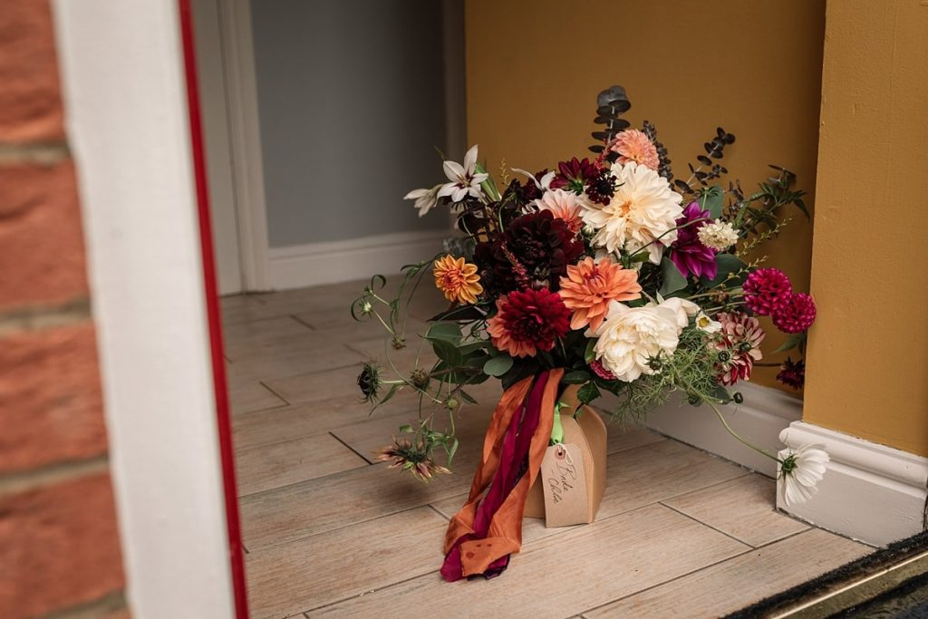 wedding bouquet by Bare Blooms at Dodmoor House Wedding, taken by Becky Harley Photography
