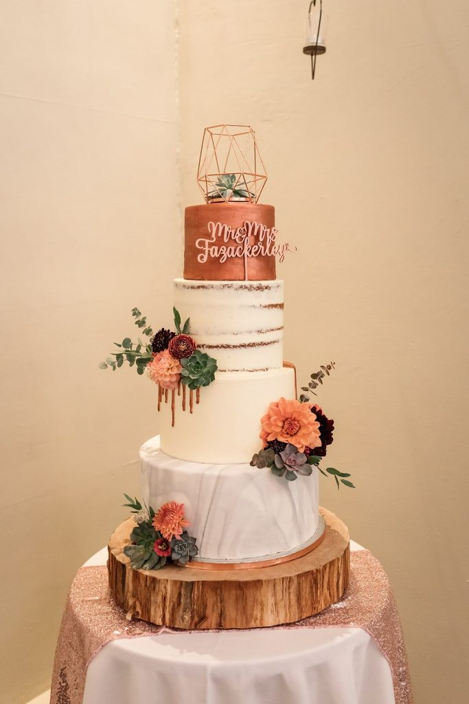 Wedding Cake by Bom Bom Patisserie at Dodmoor House Wedding, taken by Becky Harley Photography