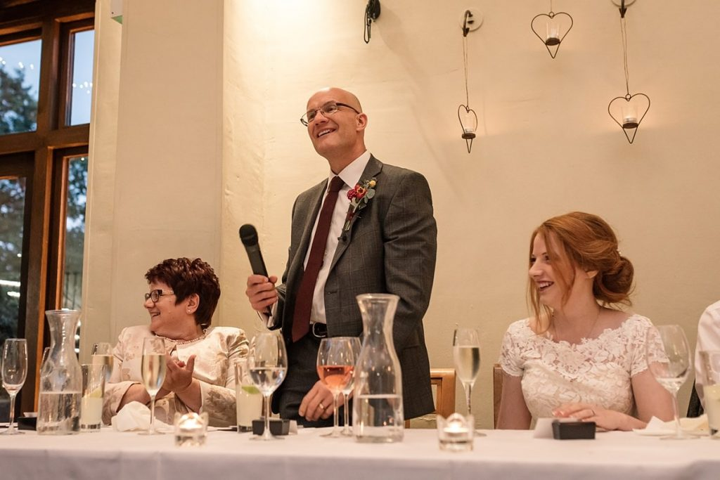 Father of the Bride speech at Dodmoor House Wedding, taken by Becky Harley Photography