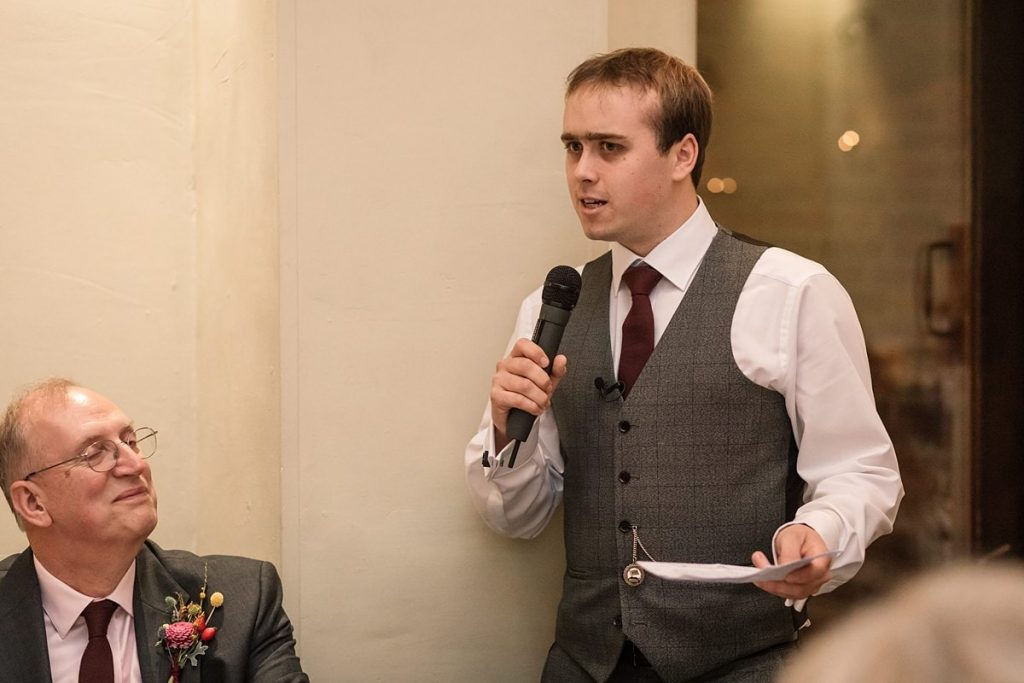 best man speech at Dodmoor House Wedding, taken by Becky Harley Photography