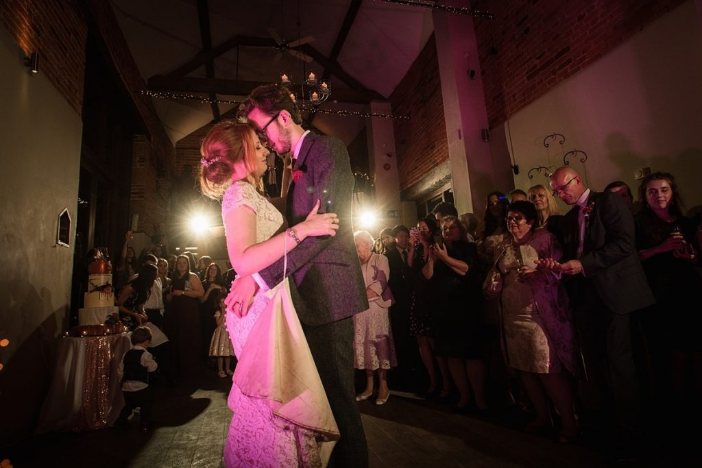 Bride and Groom first dance at Dodmoor House Wedding, taken by Becky Harley Photography