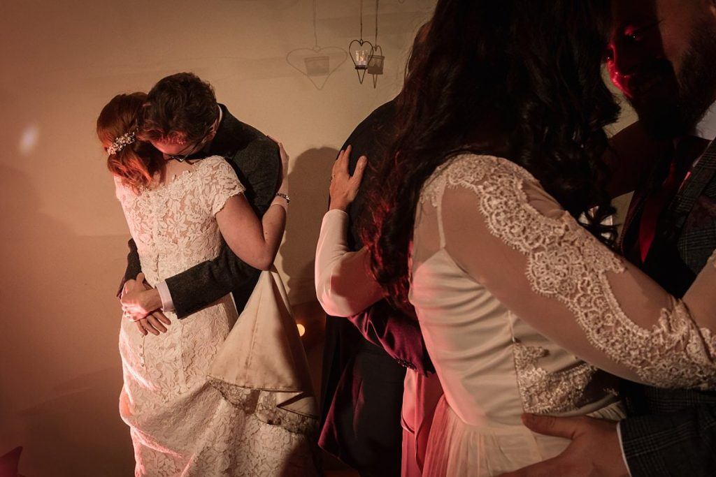 Bride and Groom dancing at Dodmoor House Wedding, taken by Becky Harley Photography