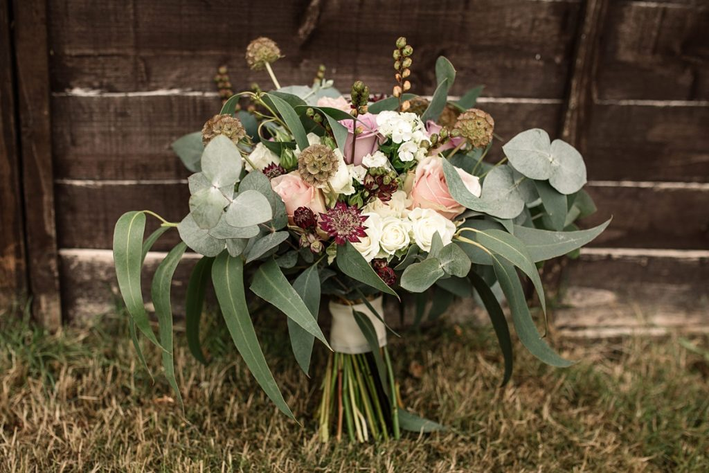 Flowers at Offley Place Wedding, taken by Becky Harley Photography
