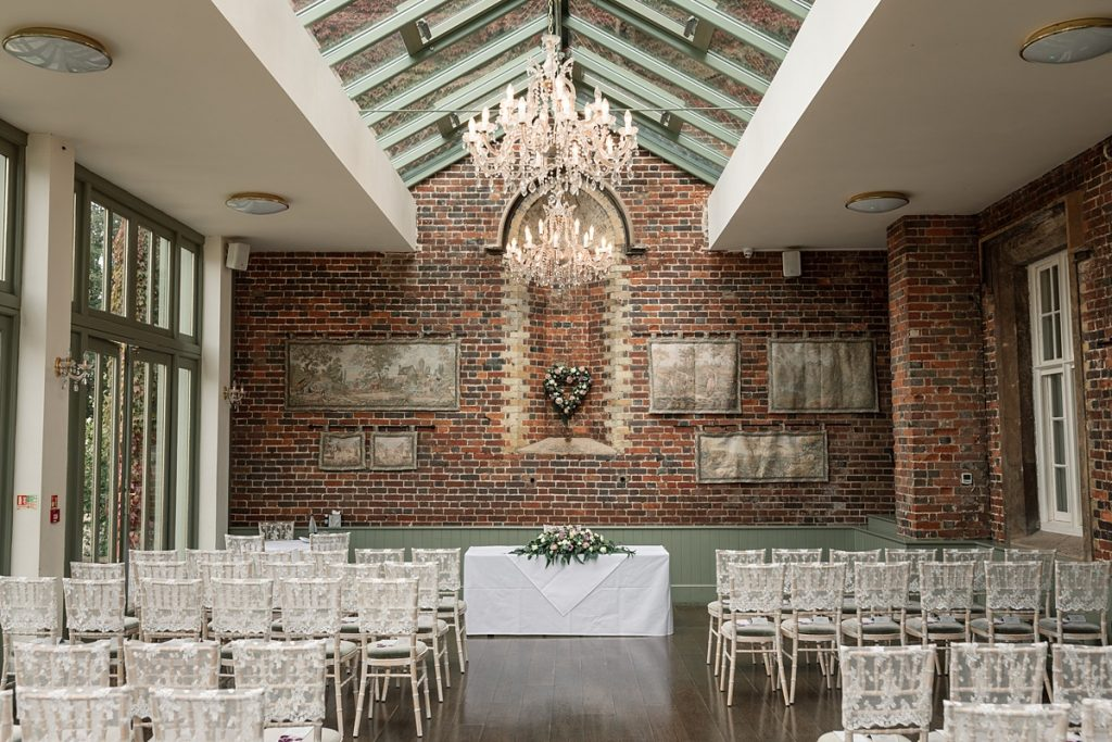 The Conservatory at Offley Place Wedding, taken by Becky Harley Photography