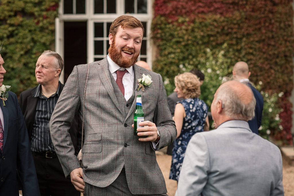 guest reaction at Offley Place Wedding, taken by Becky Harley Photography