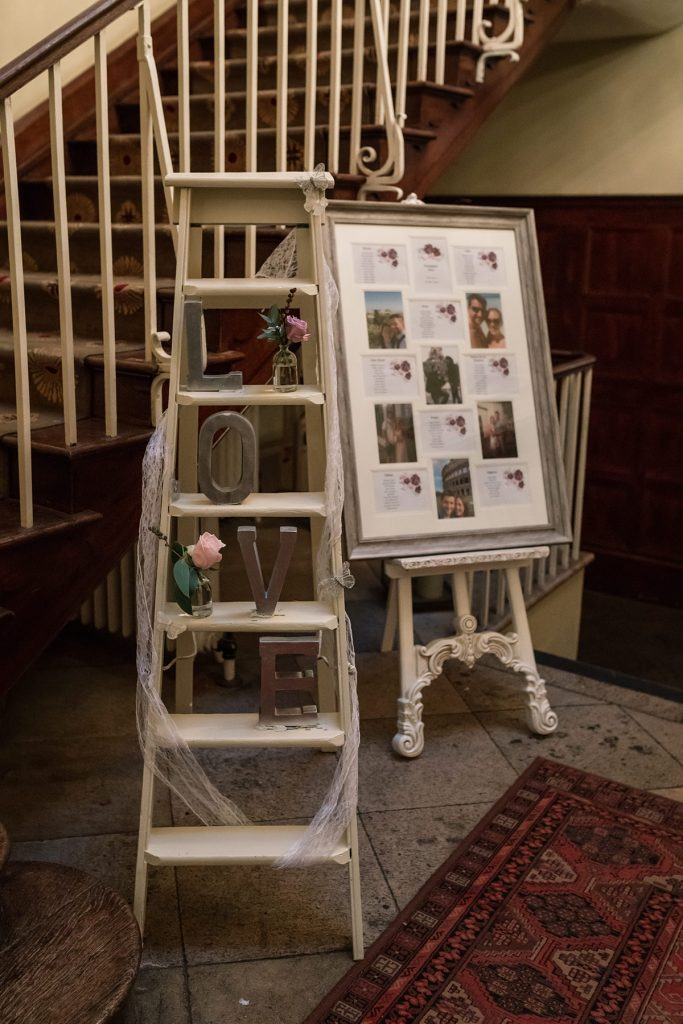 Table plan at Offley Place Wedding, taken by Becky Harley Photography