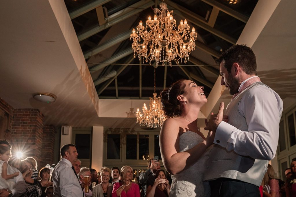 Bride and groom dancing at Offley Place Wedding, taken by Becky Harley Photography