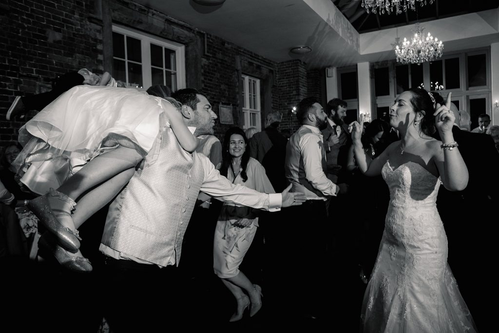 guests dancing at Offley Place Wedding, taken by Becky Harley Photography