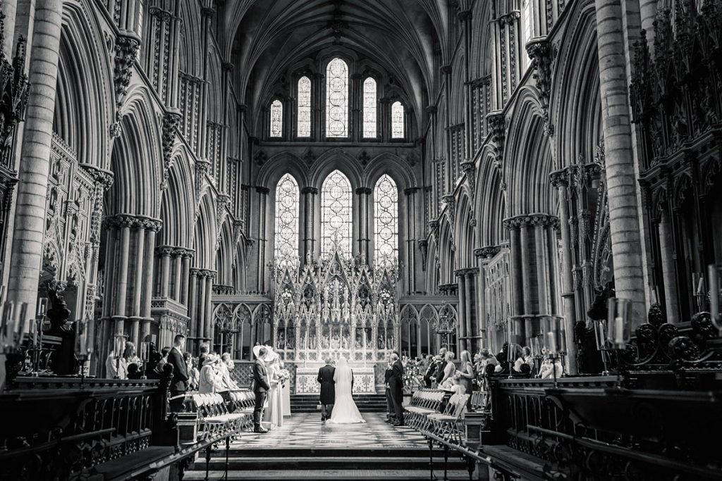 Wedding Ceremony at Ely Cathedral, taken by Becky Harley Photography