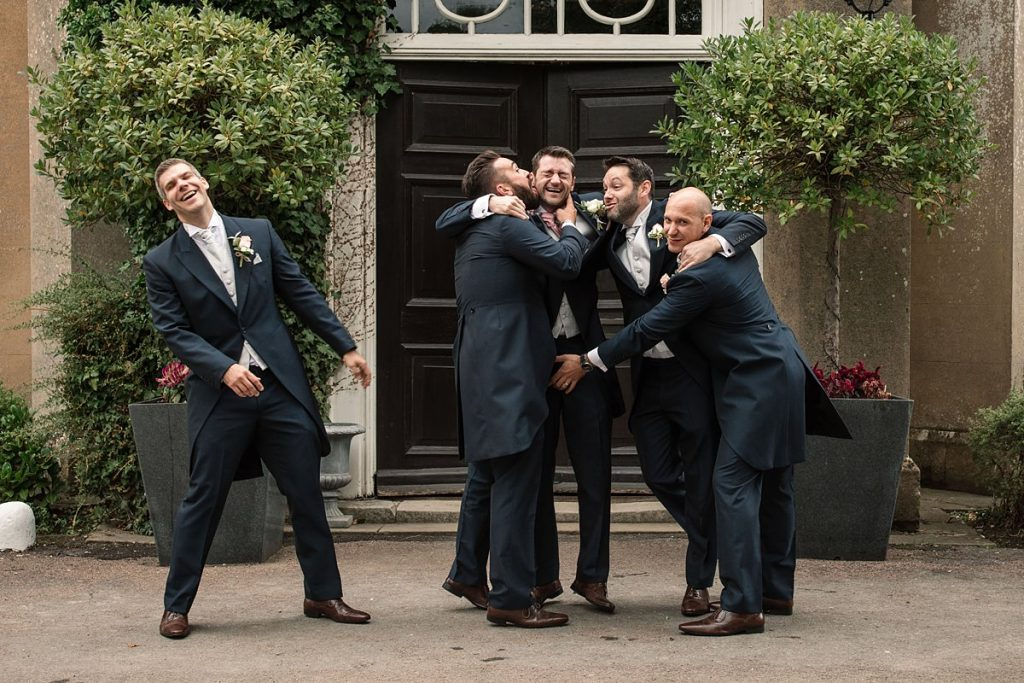 Groomsmen at Offley Place taken by Becky Harley Photography