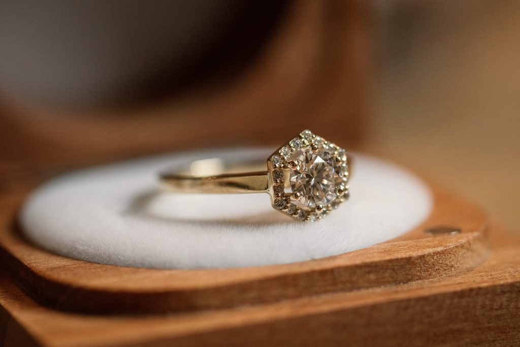 Ethical Jewellery Cred Jewellery Allium Engagement Ring taken by Becky Harley Photography
