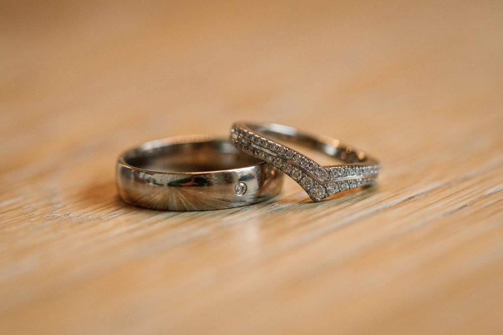 Ethical Jewellery Cred Jewellery Alya Eternity Ring with White Gold 5mm Court taken by Becky Harley Photography