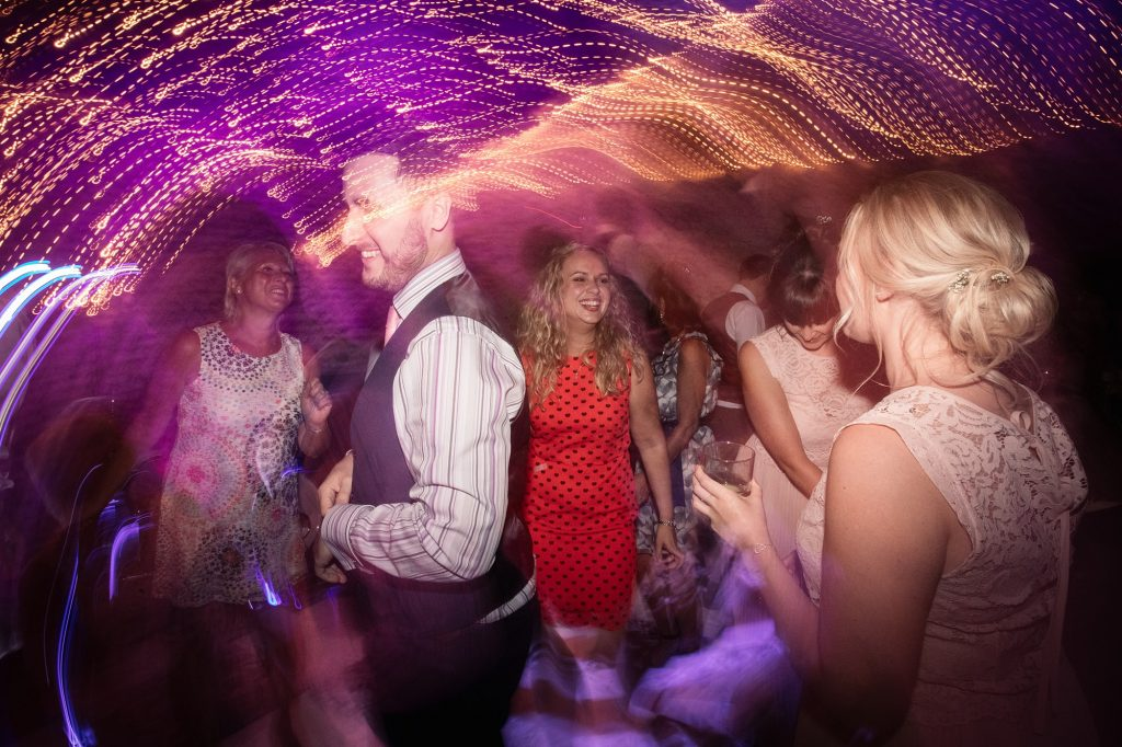 guests dancing at Granary Estates Wedding taken by Becky Harley Photography