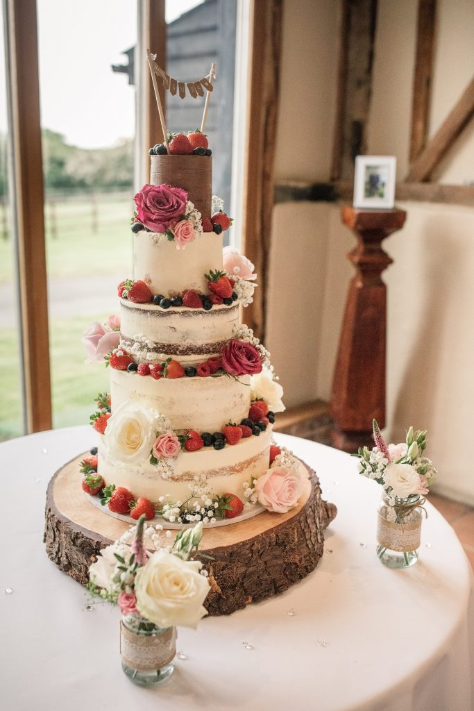 Wedding cake by Meadowsweet cakes at springtime coltsfoot wedding taken by Becky Harley Photography