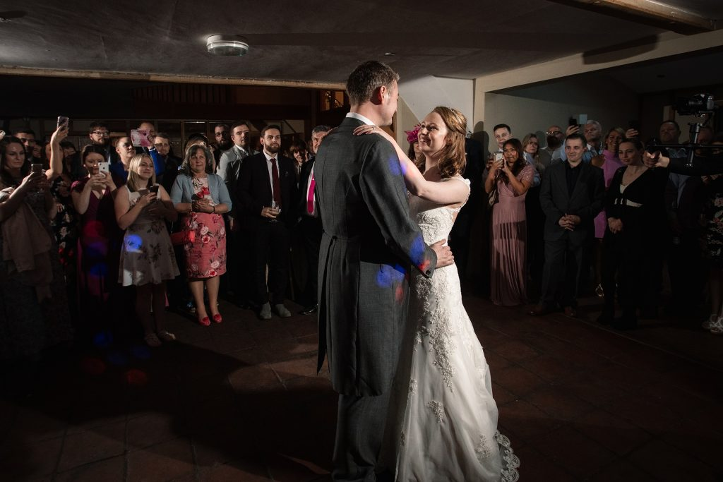 Bride and groom first dance springtime coltsfoot wedding taken by Becky Harley Photography