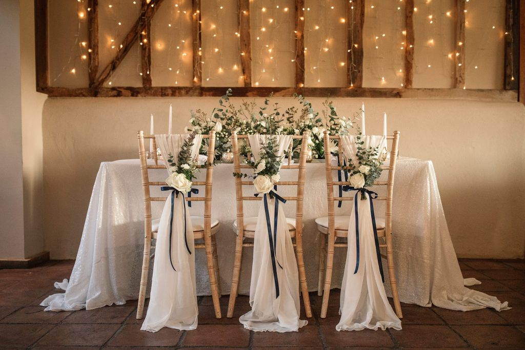 winter styled table at winter wedding inspiration shoot taken by Becky Harley Photography